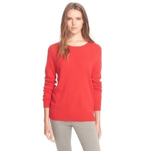 Equipment Sloane Crewneck Cashmere Red Sweater